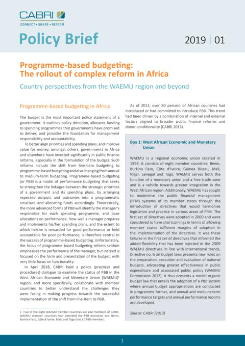 Cabri Policy Brief Programme Based Budgeting Eng Final