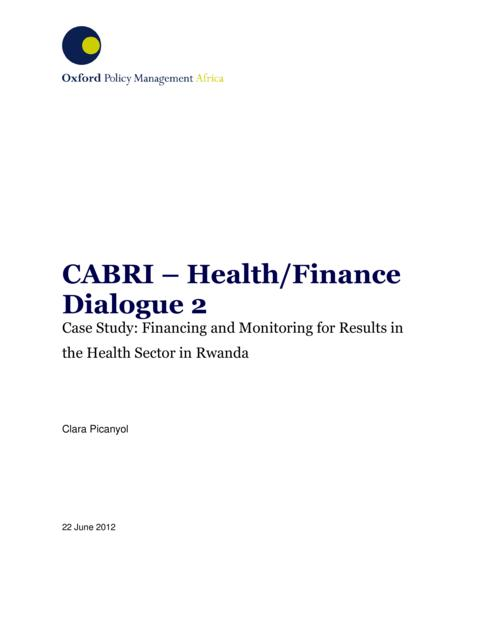 Rwanda Case Study Results Based Financing In Health 3