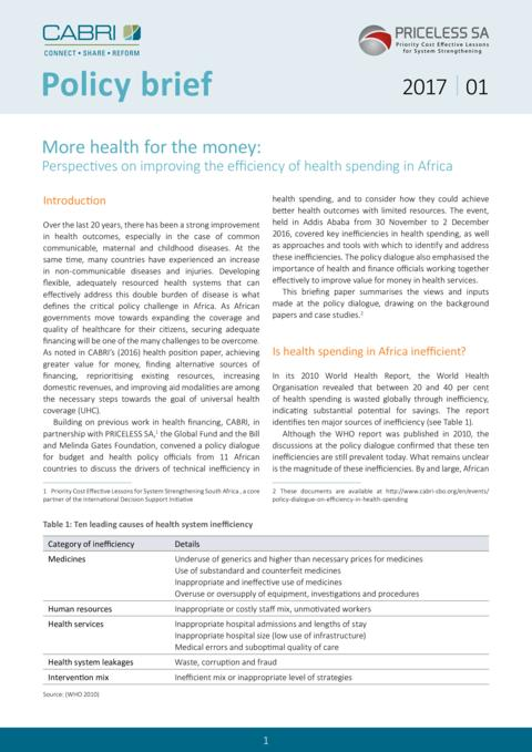 2017 Policy Brief More Health For The Money Eng
