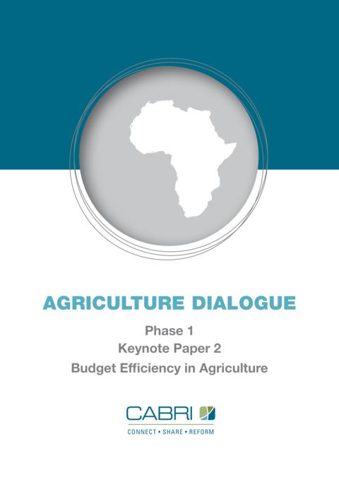 Report 2013 Cabri Value For Money Agriculture 1St Dialogue English Cabri Keynote 2 Budget Efficiency In Agriculture