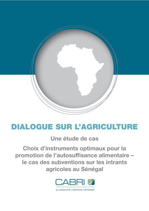 Case Study 2013 Cabri Value For Money Agriculture 1St Dialogue French Senegal Case Study French