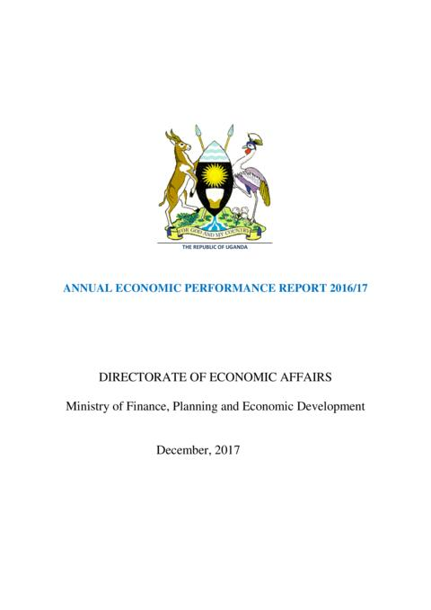 DIRECTORATE OF ECONOMIC AFFAIRS Ministry of Finance