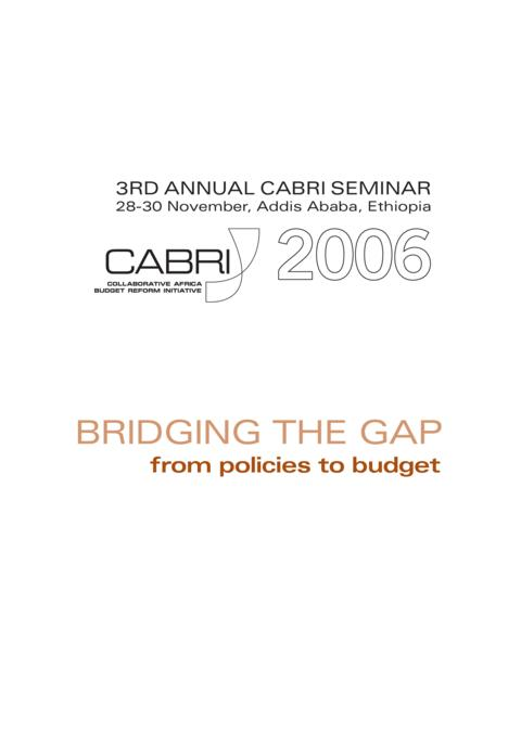 Report 2006 Cabri Cabri Seminar Cabri 3Rd Annual Seminar English 3Rd Annual Seminar Bridging The Gap