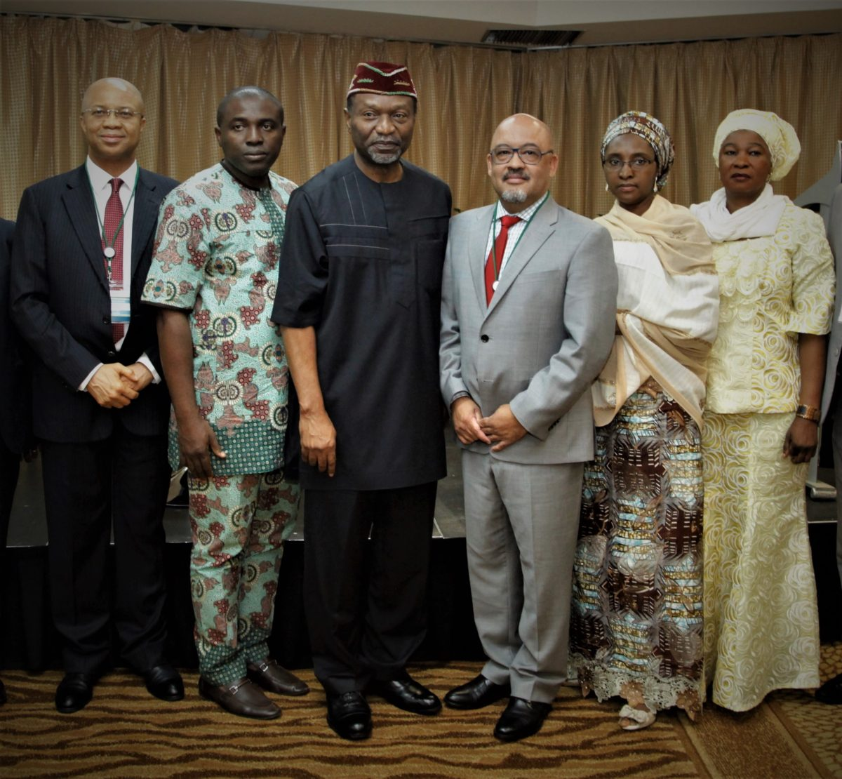 Senator Udoma Udo Udoma with CABRI's Executive Secretary, Neil Cole and members of the National Assembly and the Ministry of Budget and National Planning of the Federal Republic of Nigeria.
