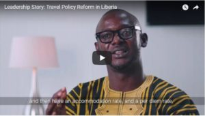 Leadership Story Travel Policy Reform In Liberia